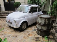 Iconic-fiat-in-front-of-merci-piet-boon-concrete-wallpaper