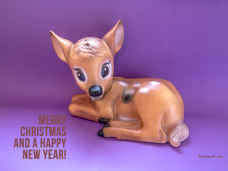 designisti, happy holidays, bambi