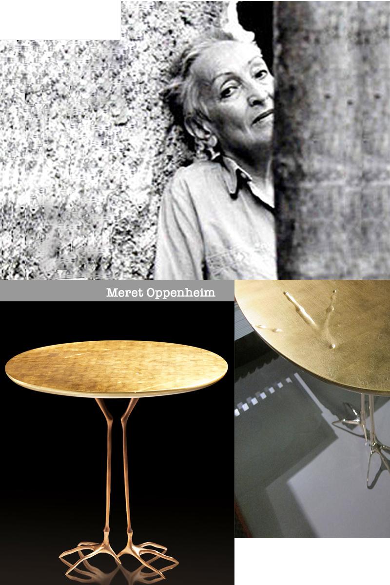 Meret Oppenheim, Simon Collezione, Cassina, Traccia Table