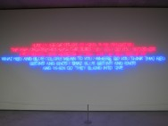 Maurizio Nannucci, Luminance of color beyond pure sensation, 2008, Museum Salzburg, designisti